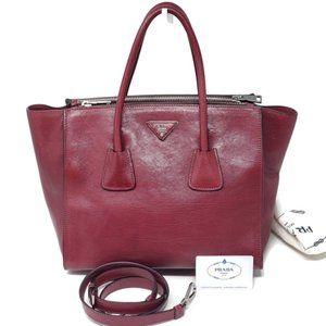 100% Auth Prada Leather Satchel Bag
